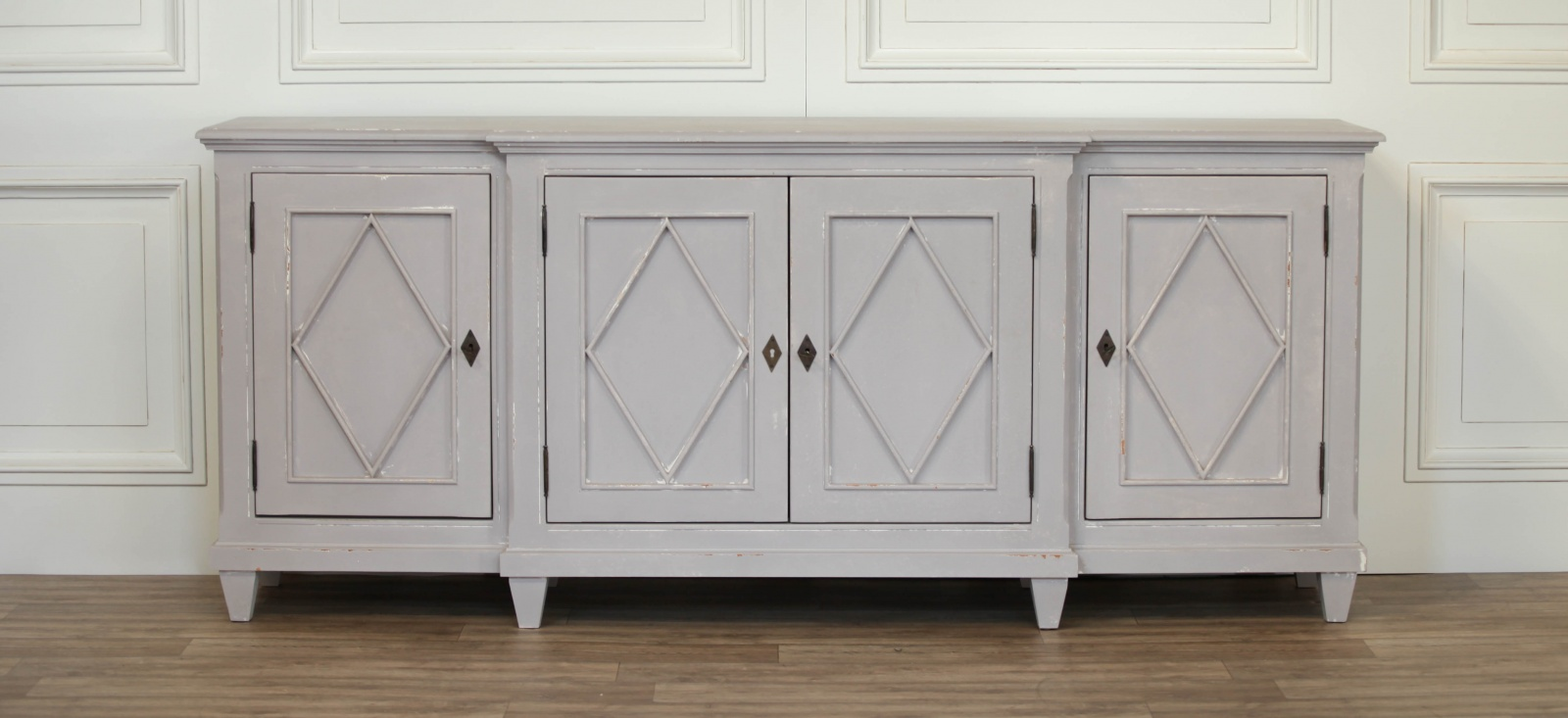 Lovely breakfront sideboard by strong bow painted in farrow and ball skimming stone. Luxury Interiors French Furniture Uk French Bedroom Contemporary Furniture Online