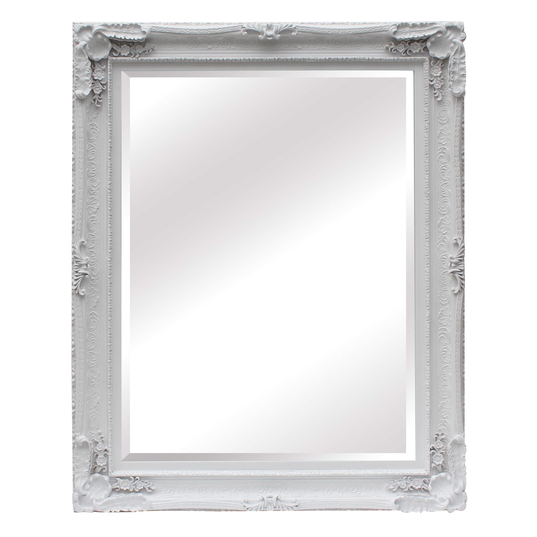 Maddelena Large White Mirror Furniture La Maison Chic