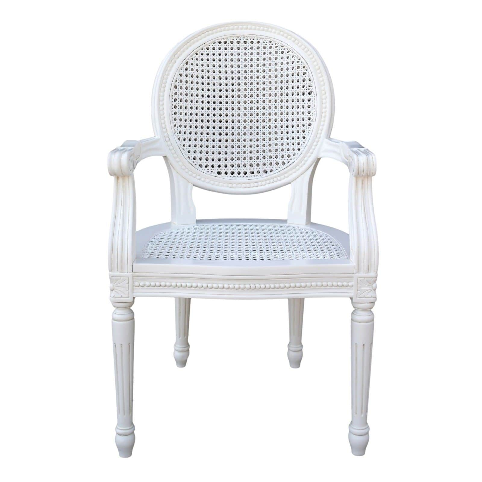 white wicker dining chairs uk office for short people french chateau rattan bedroom arm chair