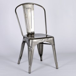 Industrial Style Dining Chairs Cottage Vintage Metal Steel Cafe Chair