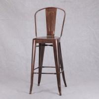 Highback Copper Bronze Bar Stool Furniture - La Maison ...