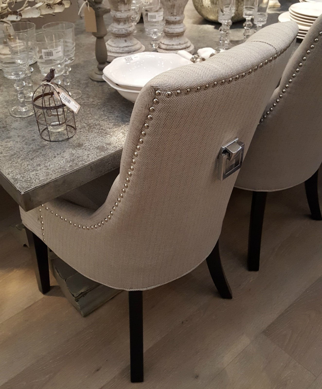 home goods kitchen table and chairs phillips collection seat belt chair flavia dining furniture - la maison chic luxury interiors