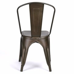 French Bistro Table And Chairs Uk Double Glider Chair Nursery Vintage Cafe Style Burnished Zinc Dining