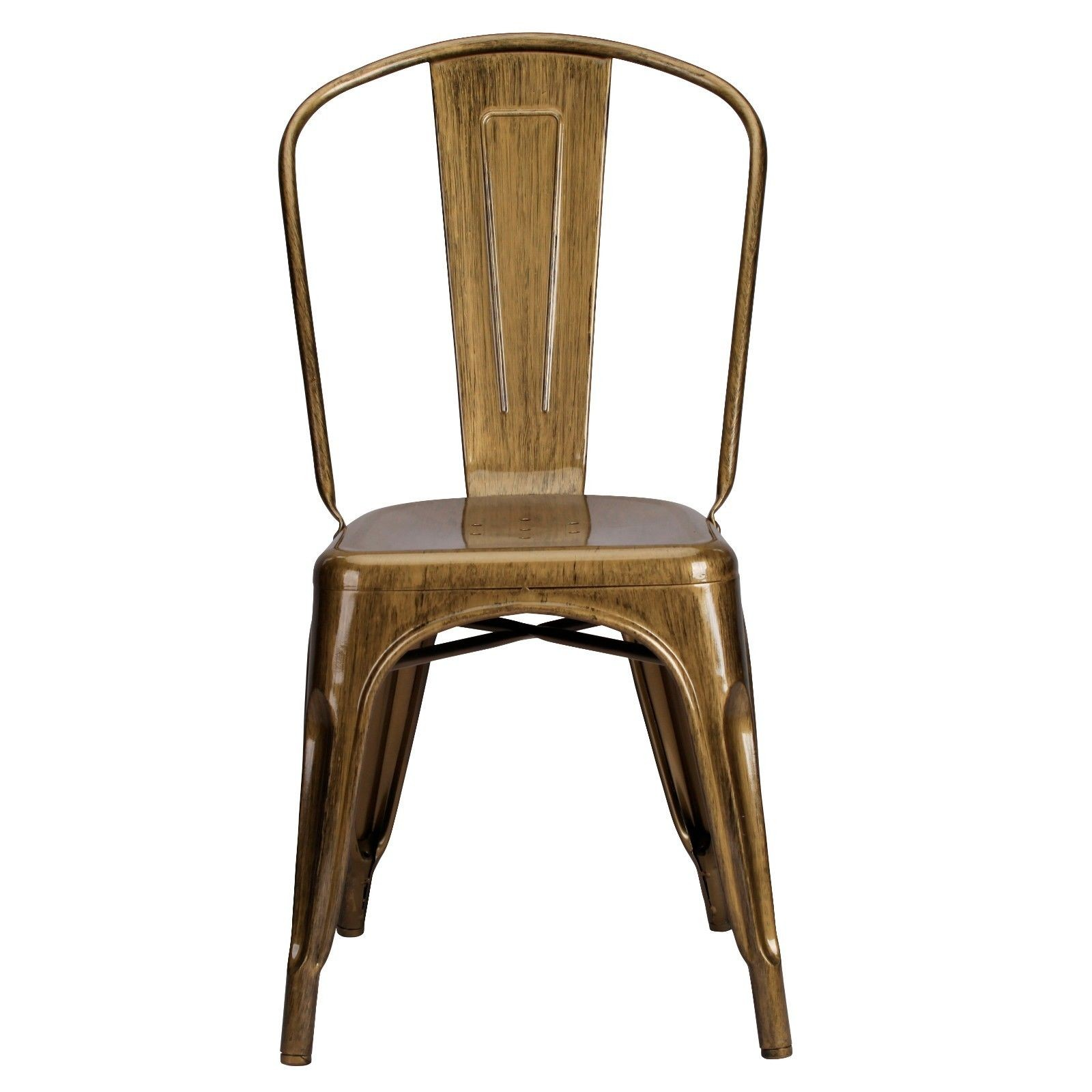 tolix style chair thonet rocking vintage metal brass gold finish dining