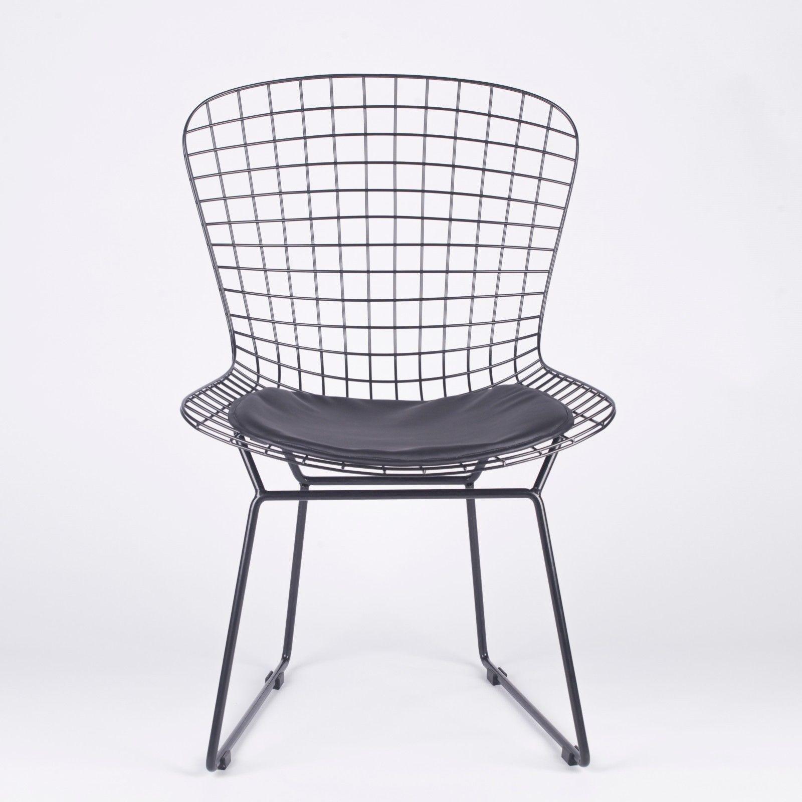 Black Mesh Wire Dining Chair Furniture  La Maison Chic