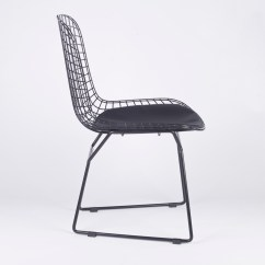 Wire Mesh Dining Chairs Uk Walmart Toddler Table And Black Chair Furniture La Maison Chic