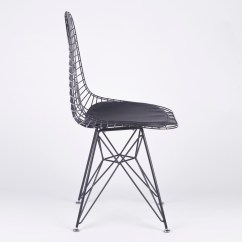 Black Wire Chair Back Support Mesh Eiffel Style Dining Furniture La