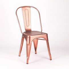 Tolix Style Chair Best Potty Chairs For Toddlers Vintage Metal Copper Industrial Dining