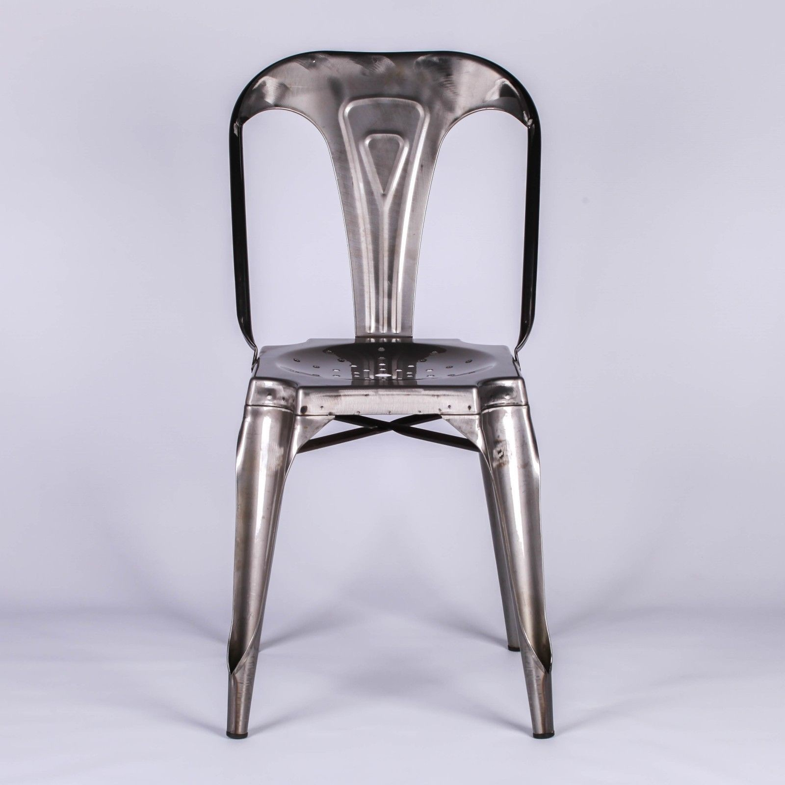 Metal Dining Chairs Industrial Industrial Cafe Style Metal Dining Chair Furniture La