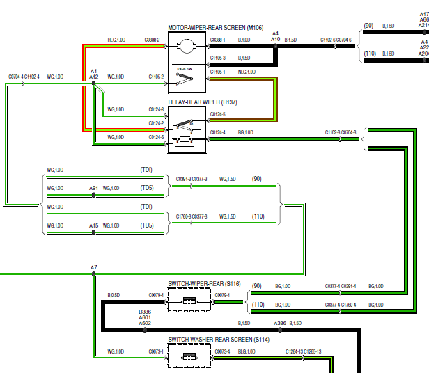 rear wiper switch wiring diagram