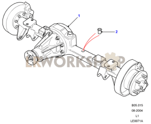 Rear Axle Assembly  Rover Type, Rear Disc Brakes, 90