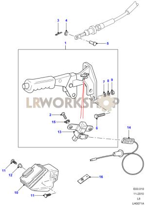 Handbrake Lever  Land Rover Workshop