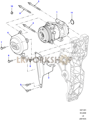 Air Conditioning Compressor  24 Tdci  Land Rover Workshop