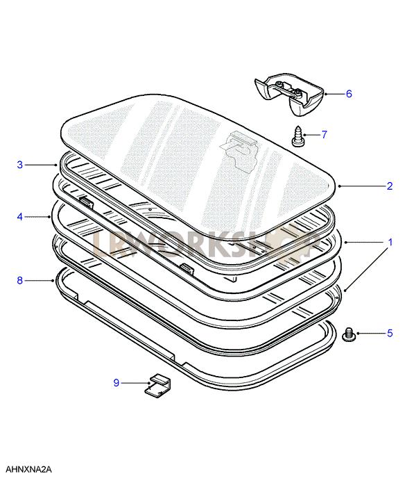 Interchange between latch-type and twist-type sunroofs