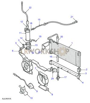 Condenser & Principal Components  4 Cylinder  To