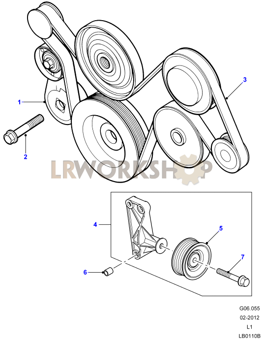 Alize 1999 With Air Con Drive Belt Diagram