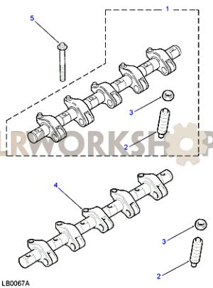 Rocker Shaft  Fuel Injectors  Td5  Land Rover Workshop