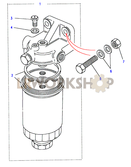 fuel oil filter cartridge