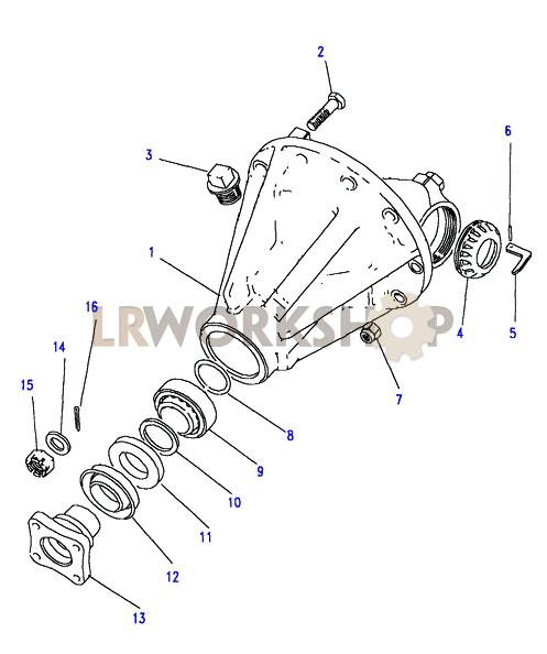 rear axle diagrams land rover workshop
