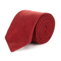 Tailored Handmade Bordeaux Hopsack Necktie | Lanieri