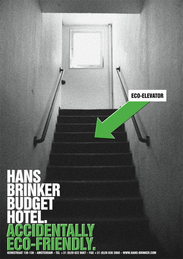 Hans Brinker Budget Hotel : Accidentally Eco Friendly