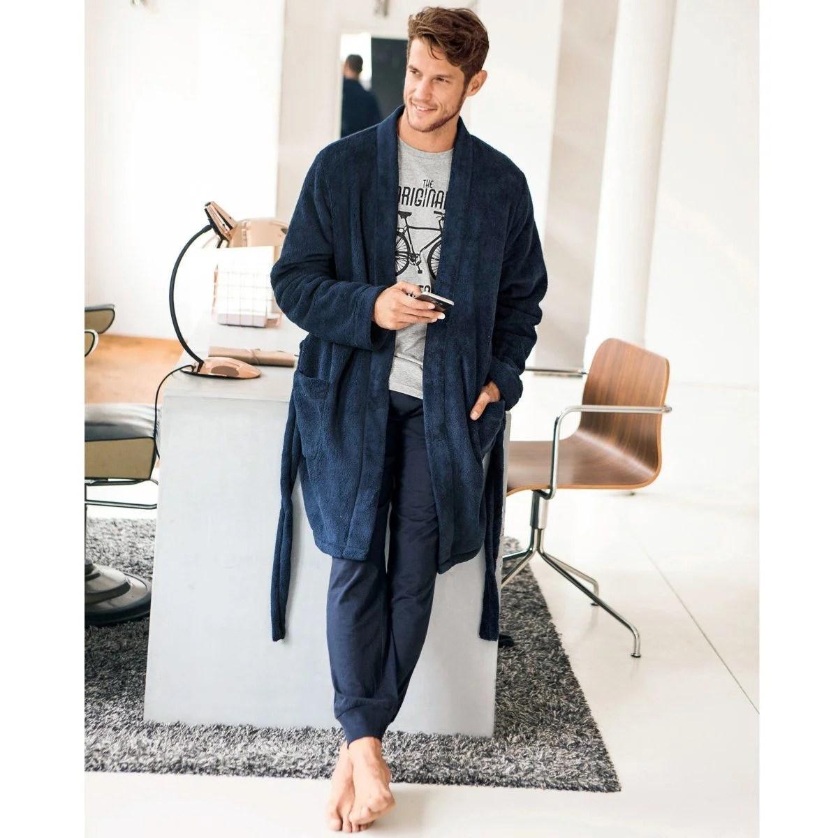 La Robe De Chambre Homme L Accessoire Cocooning Indispensable La Redoute