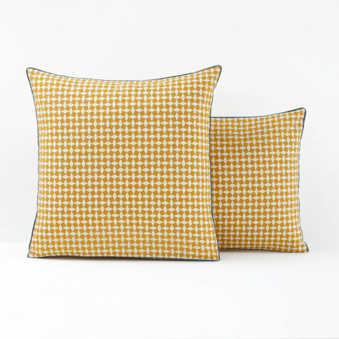 Yellow Tie Print Cotton Percale Single Pillowcase