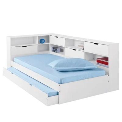 lit avec tiroir rangements et sommiers yann la redoute interieurs