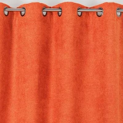 rideau orange et gris la redoute