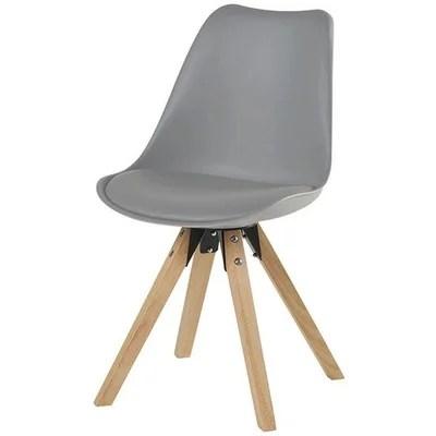 chaise scandinave gris clair la redoute
