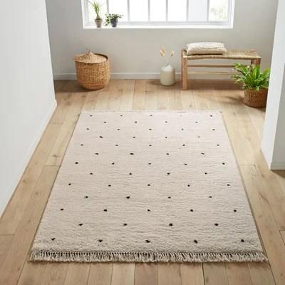 tapis noir et blanc la redoute