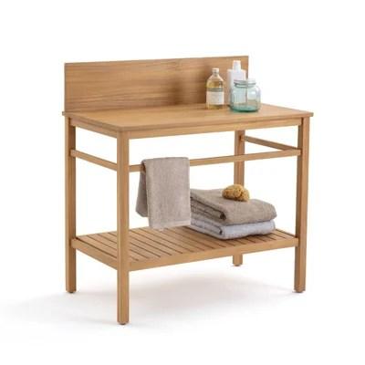 meuble salle de bain en bois avec