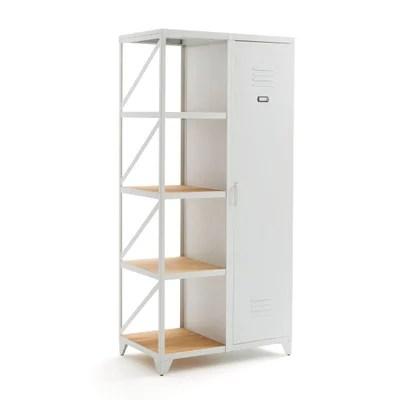 armoire laque blanc porte coulissante