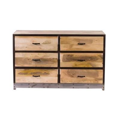 meuble rangement bois brut la redoute