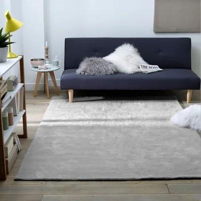 tapis salon gris clair la redoute