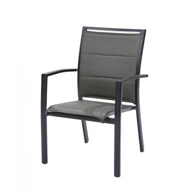 fauteuil de jardin aluminium et