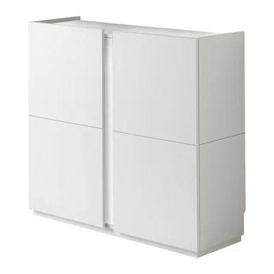 meuble rangement bois blanc la redoute