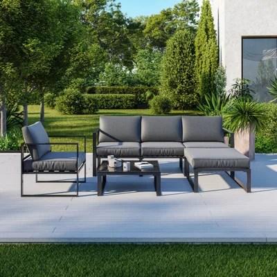 salon de jardin aluminium la redoute