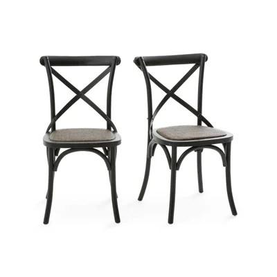 chaise salle a manger noir la redoute
