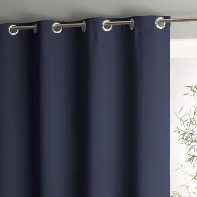 double rideaux bleu turquoise la redoute
