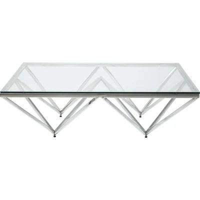 table basse argente design la redoute