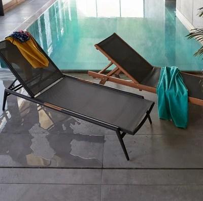 chaise longue aluminium la redoute