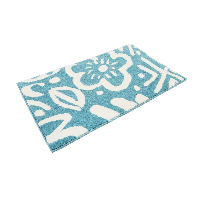 tapis de bain turquoise la redoute