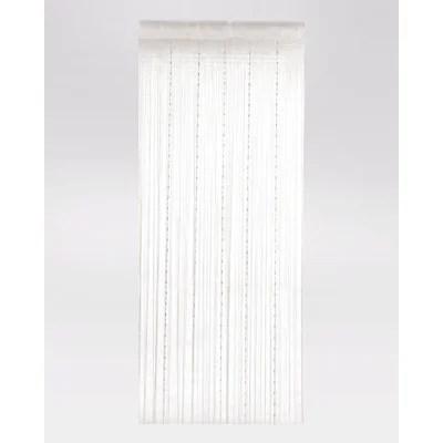 rideau fil blanc la redoute