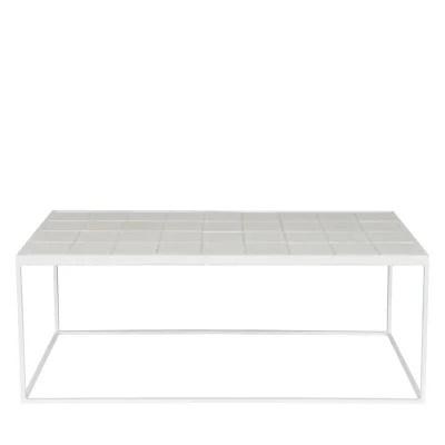 table basse blanche la redoute