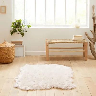tapis peau de mouton blanc la redoute