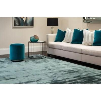 tapis bleu petrole la redoute