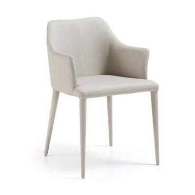 chaise salle a manger simili cuir beige