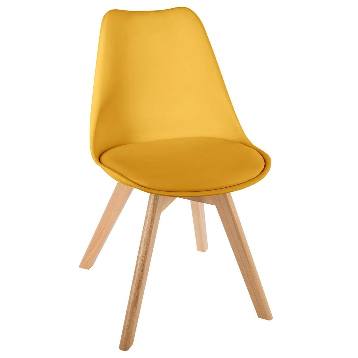 chaise salle a manger jaune la redoute