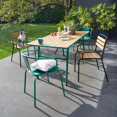 table de jardin rabattable la redoute